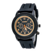 Zunammy® Mens Black Silicone Strap Watch