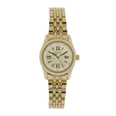 jcpenney.com | Womens Silver-Tone Dial Gold-Tone Bracelet Watch