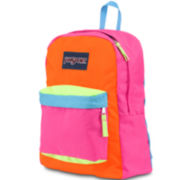 Jansport® Superbreak Flourescent Color-Block Backpack