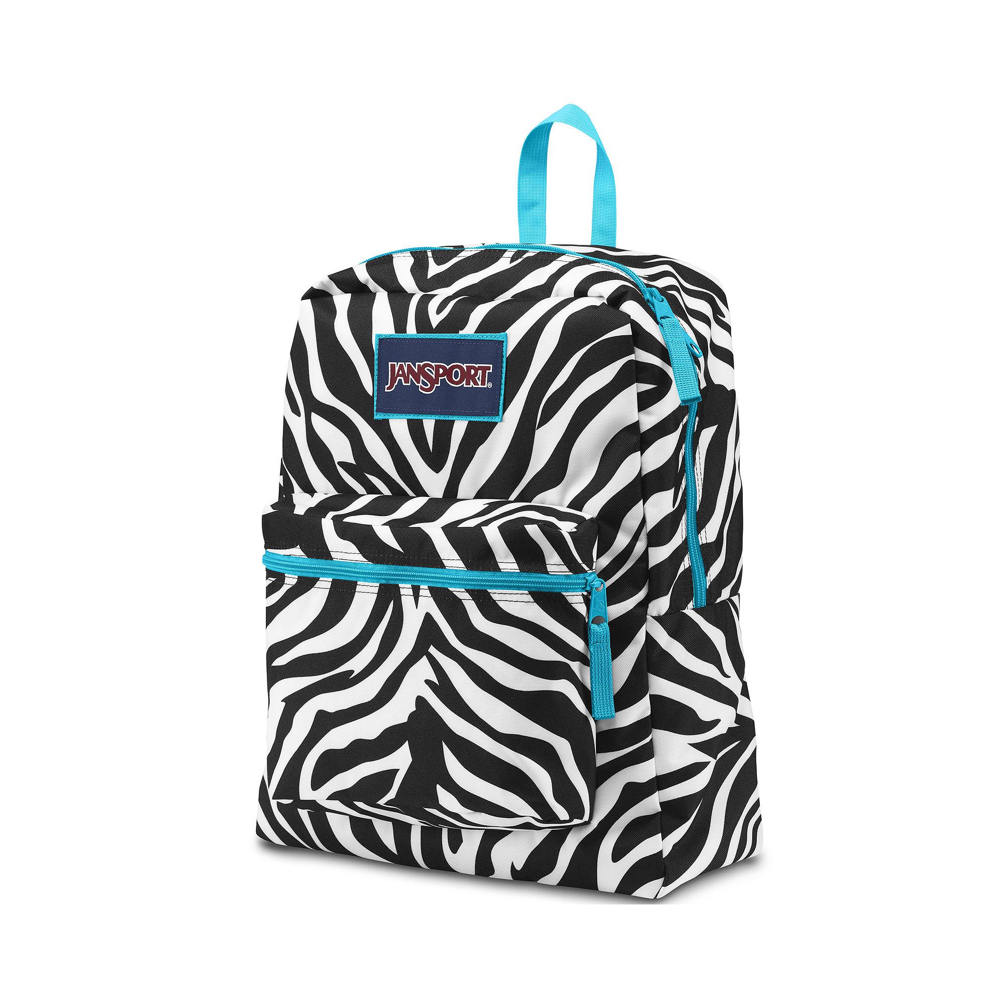 Blue Zebra Jansport Backpack Click Backpacks