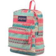 Jansport® Digibreak Malt Tan Boho Stripe Backpack