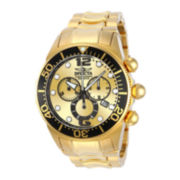 Invicta® Lupah Mens Gold-Tone Stainless Steel Chronograph Dive Sport Watch