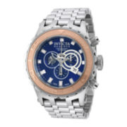 Invicta® Subaqua Reserve Mens Blue Dial Stainless Steel Chronograph Watch 14035