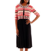 Perceptions Aztec-Print Jacket and Solid Dress