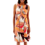 London Style Collection Sleeveless Print Dress
