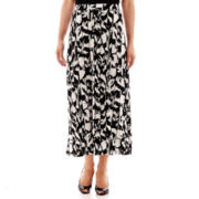 Black Label by Evan-Picone Print Knit Maxi Skirt