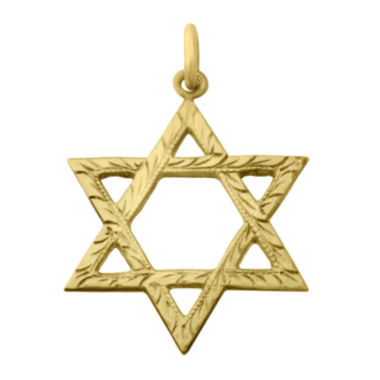 jcpenney.com | 14K Yellow Gold Star of David Pendant