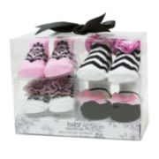 Baby Essentials® 4-pk. Fancy Socks Set - Girls One Size
