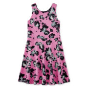 Total Girl® Floral-Print Skater Dress - Girls 7-16
