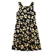 Total Girl® Cheetah-Print Skater Dress - Girls 7-16 and Plus