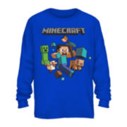 Minecraft Long-Sleeve Graphic Tee - Boys 8-20