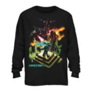 Minecraft Long-Sleeve Cotton Tee - Boys 8-20