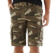 Ecko Unltd.® Belted Twill Cargo Shorts
