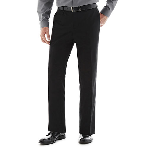 Savile Row® Black Flat-Front Suit Pants - Slim