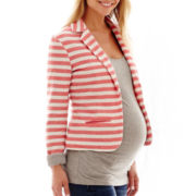 Maternity Long-Sleeve French Terry Blazer - Plus