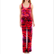 a.n.a® Sleeveless Wide-Leg Palazzo Jumpsuit - Tall
