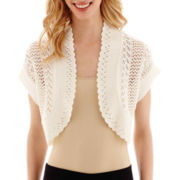 Studio 8 Fashion Corp Short-Sleeve Crochet Shrug Sweater