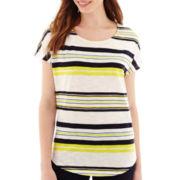 Stylus™ Short-Sleeve Striped Dolman T-Shirt