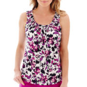 St. Johns' Bay® Sleeveless Smocked-Neck Top