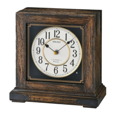 jcpenney.com | Seiko® Brown Mantel Clock With 12 Hi-Fi Melodies Qxw234blh