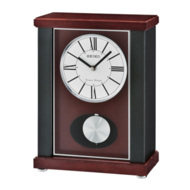 jcpenney.com | Seiko® Mantel Clock with Quarter-Hour Chime And Pendulum Qxq028klh