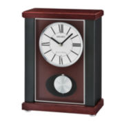Seiko® Mantel Clock with Quarter-Hour Chime And Pendulum Qxq028klh