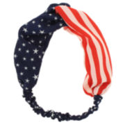 Capelli of New York Patriotic Twist-Front Head Wrap