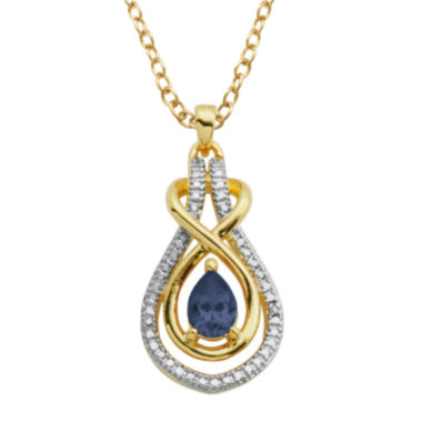 jcpenney.com | Classic Treasures™ Genuine Sapphire & Diamond Accent Teardrop Pendant