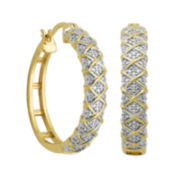 Classic Treasures™ Diamond Accent Crisscross Hoop Earrings