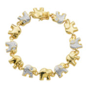 Classic Treasures™ Diamond Accent Elephant Bracelet