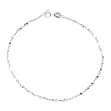 "jcpenney.com | Silver Reflections™ Sterling Silver 7.5"" Twist Serpentine Bracelet"