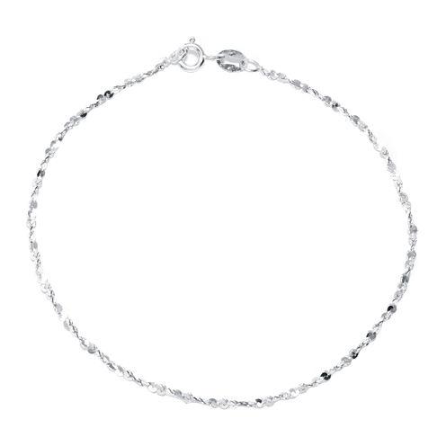 """Silver Reflections™ Sterling Silver 7.5"""" Twist Serpentine Bracelet"""