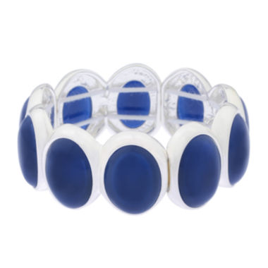 jcpenney.com | Liz Claiborne® Blue and Silver-Tone Stretch Bracelet