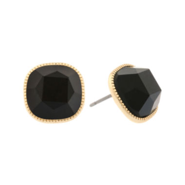 jcpenney.com | Monet® Black and Gold-Tone Button Post Earrings