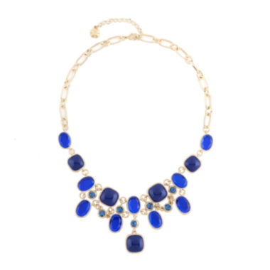 jcpenney.com | Monet® Blue and Gold-Tone Bib Necklace