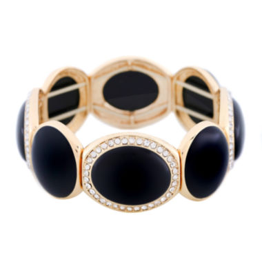 jcpenney.com | Monet® Black and Gold-Tone Stretch Bracelet