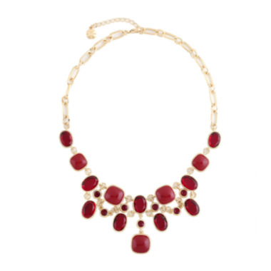 jcpenney.com | Monet® Red And Gold-Tone Bib Necklace