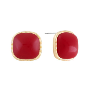 jcpenney.com | Monet® Red and Gold-Tone Post Earrings