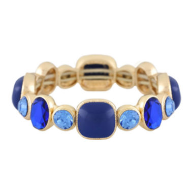 jcpenney.com | Monet® Blue and Gold-Tone Stretch Bracelet