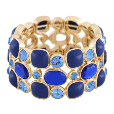jcpenney.com | Monet® Blue and Gold-Tone Drama Stretch Bracelet