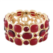 Monet® Red and Gold-Tone Stretch Bracelet