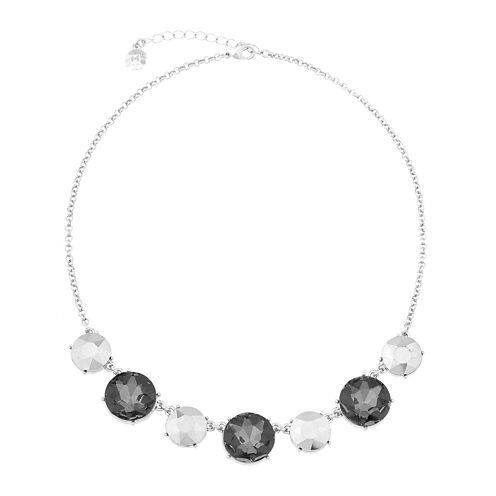 Monet® Gray and Silver-Tone Collar Necklace