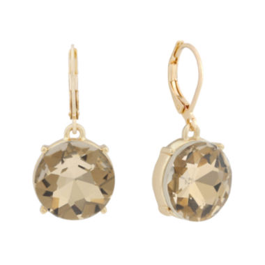 jcpenney.com | Monet® Brown Glass Gold-Tone Drop Earrings