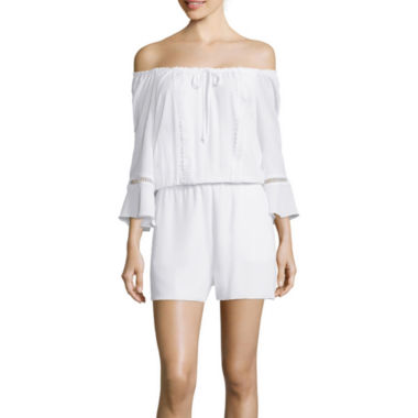 jcpenney.com | a.n.a® Off-the-Shoulder Romper
