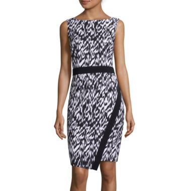 jcpenney.com | London Style Collection Sleeveless Abstract-Print Sheath Dress