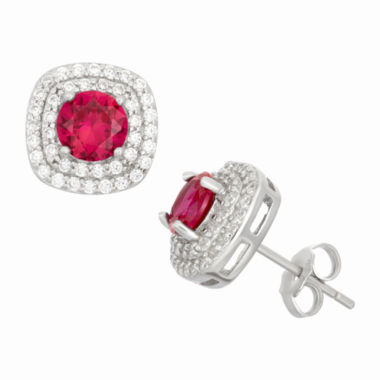 jcpenney.com | Simulated Ruby Sterling Silver Earrings