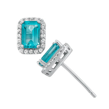 jcpenney.com | Genuine Sky Blue Topaz Sterling Silver Earrings