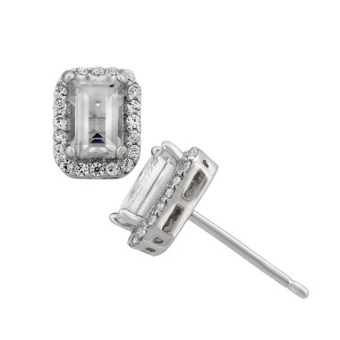 jcpenney.com | Genuine White Topaz Sterling Silver Earrings