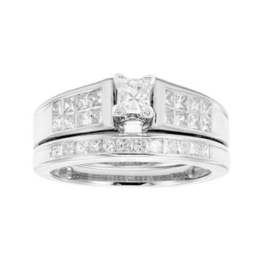 jcpenney.com | 1 CT. T.W. Certified Diamond 14K White Gold Bridal Set