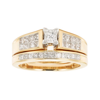 jcpenney.com | 1 CT. T.W. Certified Diamond 14K Yellow Gold Bridal Set